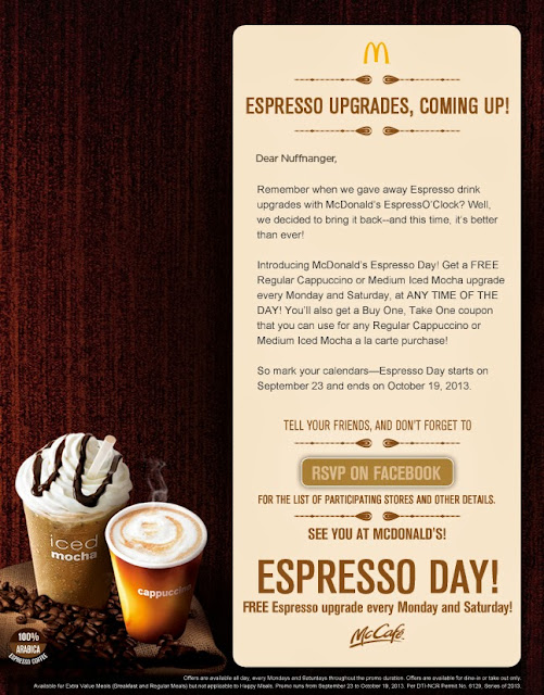 Espresso Day at McDonald's