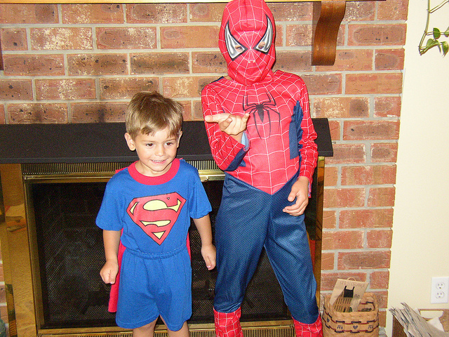 Beauty Begins with Biscotti: Superman and Spiderman