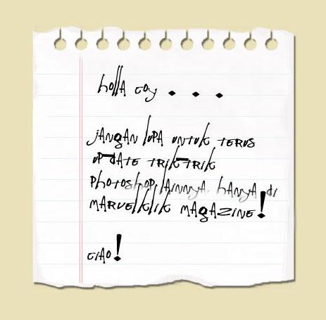 Cara membuat Kertas Notes PartII