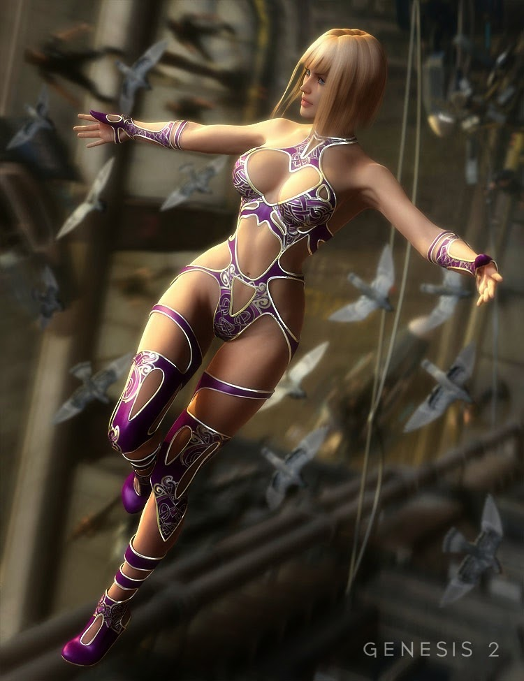 Leris Outfit pour Genesis 2 Femme