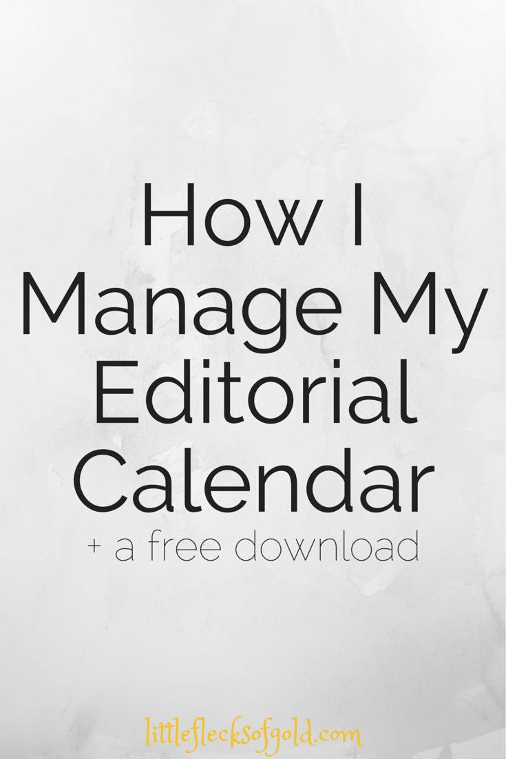 What an editorial calendar is and how to use one!