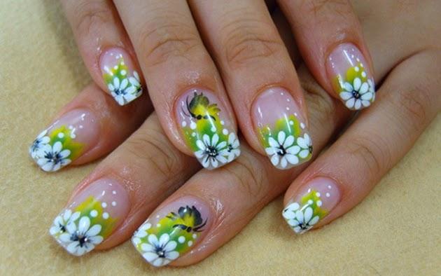 Uñas Decoradas con Flores, parte 4