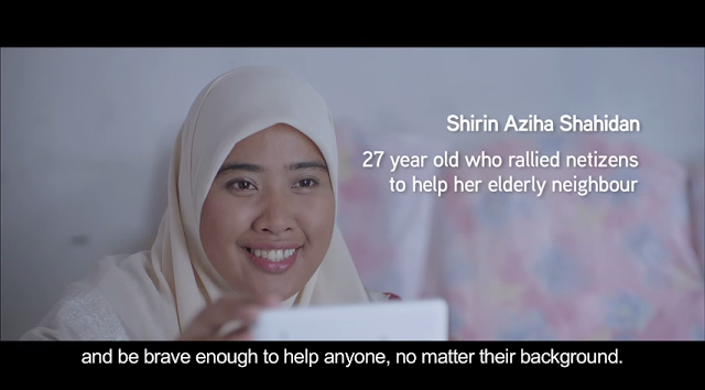 Shirin Aziha Shahidan - 27 year old lady who rallied netizens to help her elderly neighbour, Uncle San