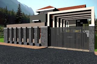 contoh pagar rumah minimalis terbaik