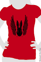 winged rabbit t-shirt