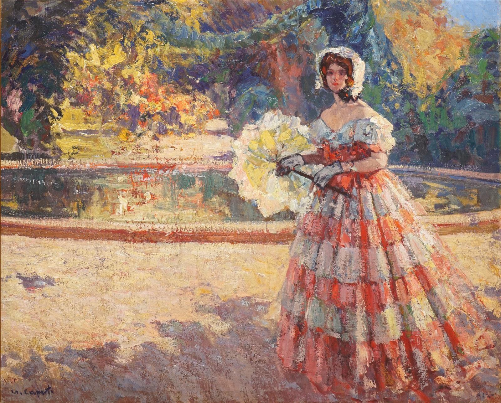 Ulisse Caputo Elegante a l ombrelle dans un parc