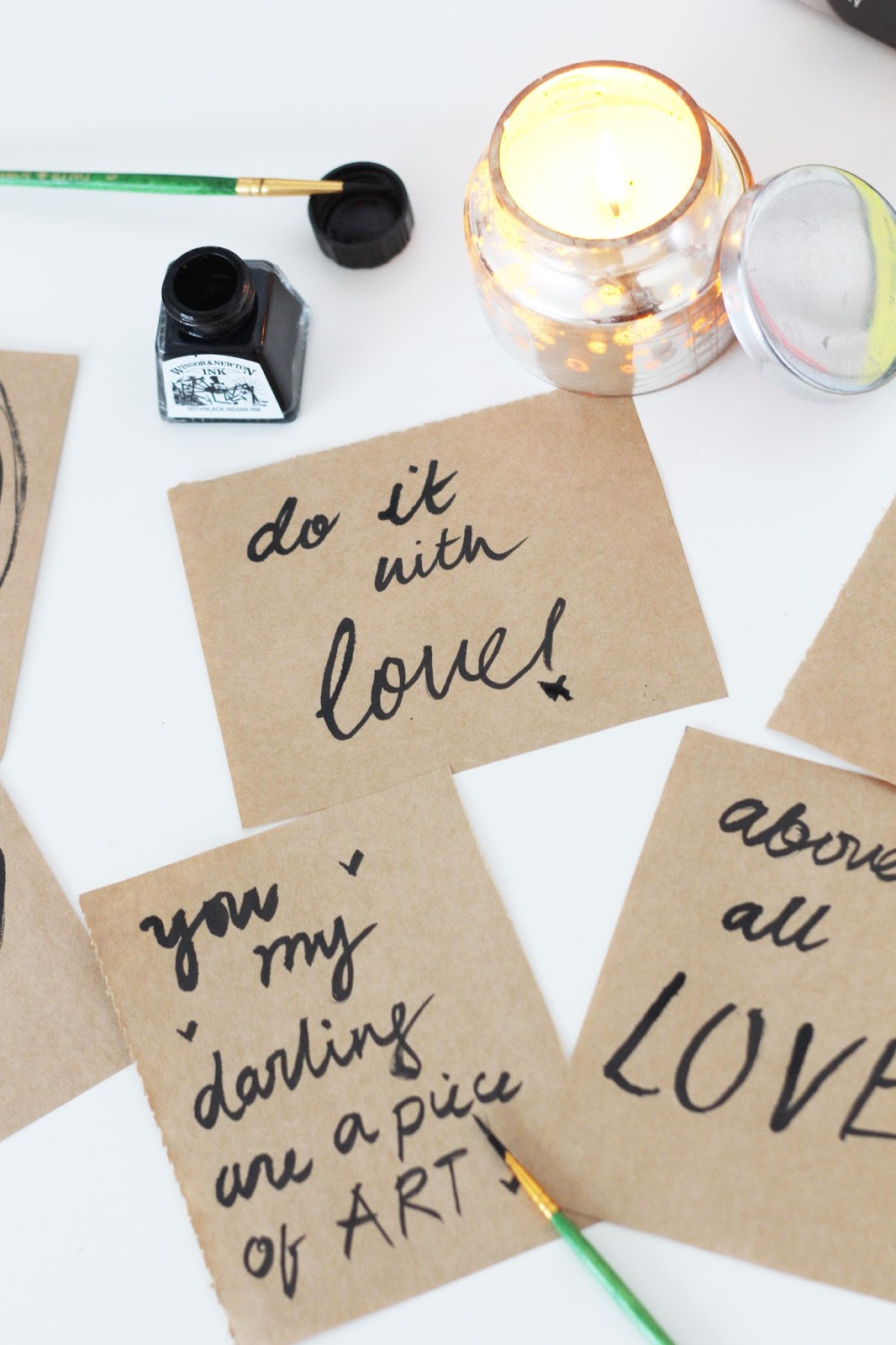 brush lettering ideas