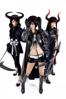 Tasha-Ren-Ricu cosplay as Black Rock Shooter characters