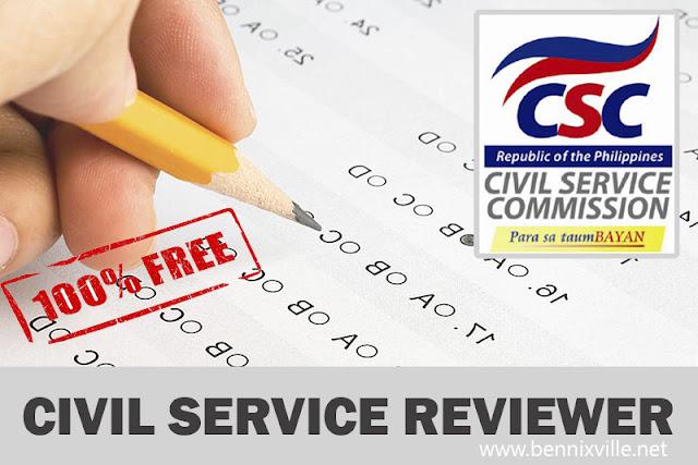Free Philippine Civil Service Exam Reviewer(Updated 2015)