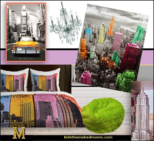 Image gallery new york themed bedroom for City themed bedroom designs