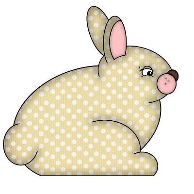 Free Cream Polka Dot Digital Scrapbook Bunny Element 47