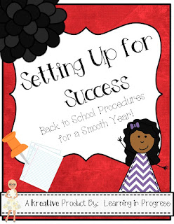 https://www.teacherspayteachers.com/Product/Setting-Up-for-Success-Back-to-School-Procedures-793108