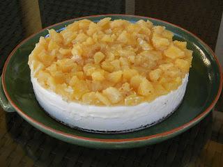 Torta gelada de abacaxi light