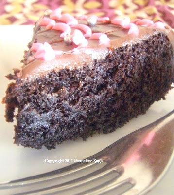 eggless chocolate cake using vinegar