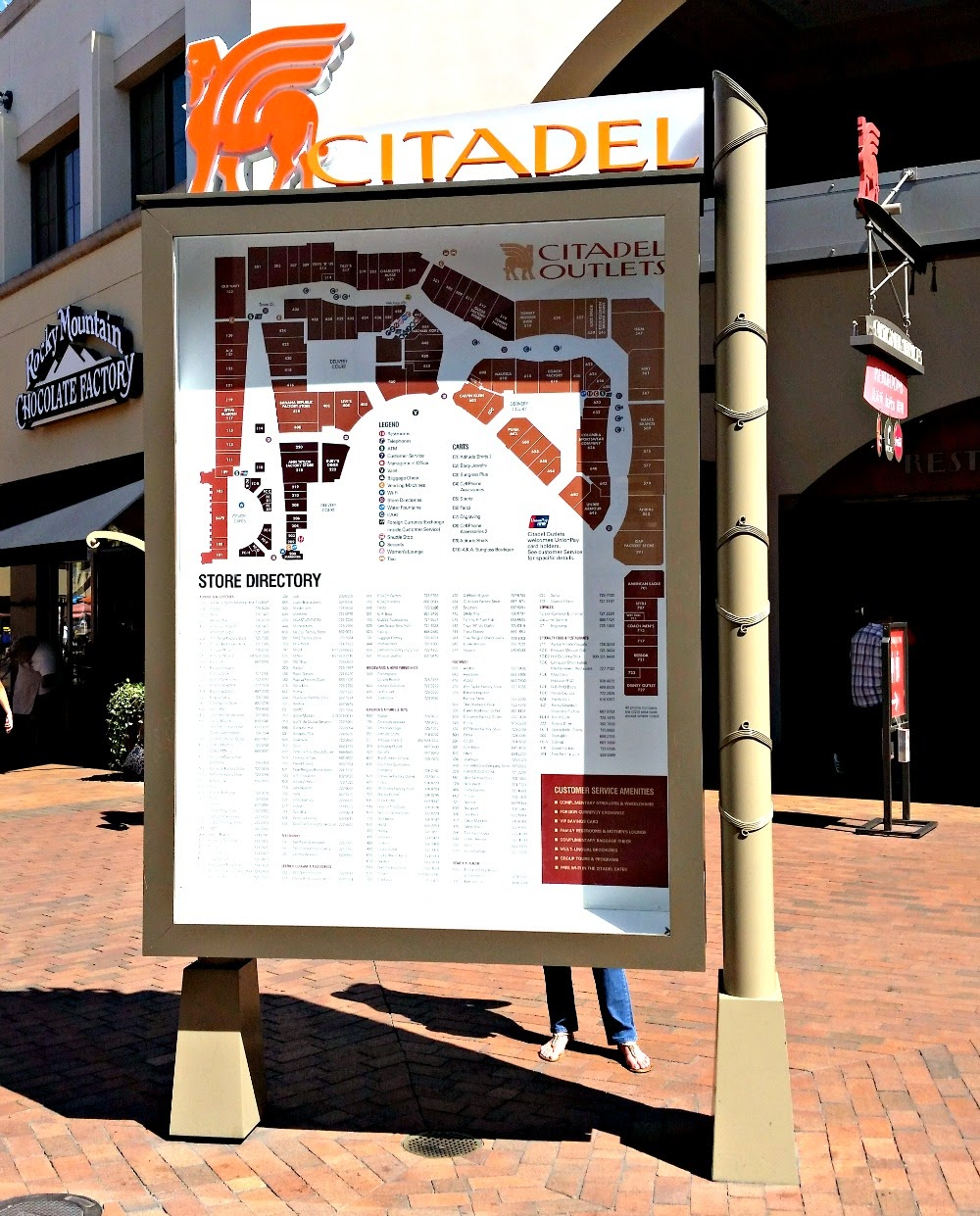 citadel outlet, store, directory, los angeles, shopping,