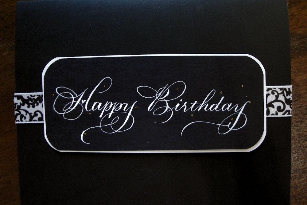 Trish Taylor Calligraphy Happy Birthday