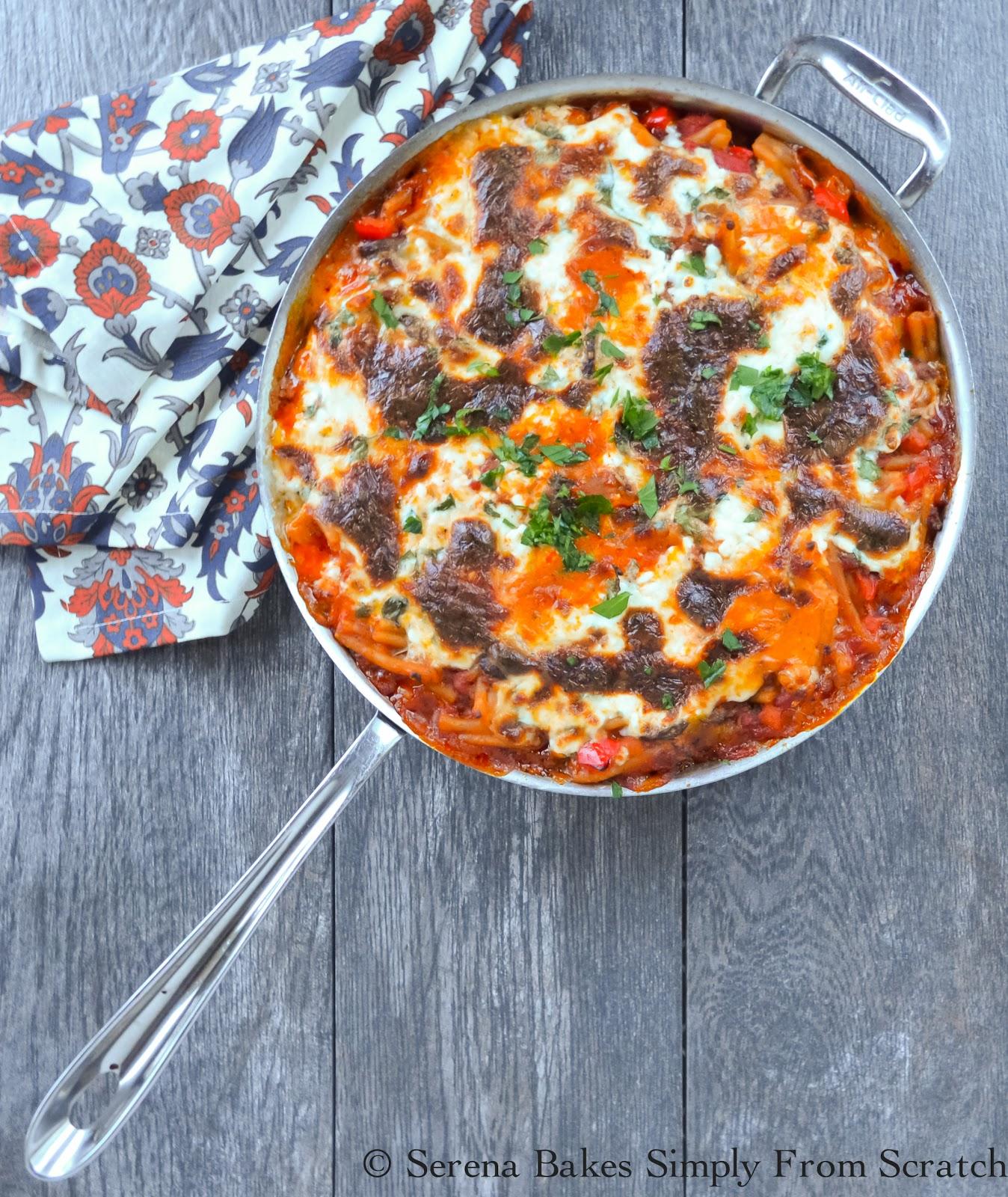 One Pot Lasagna Pasta Skillet
