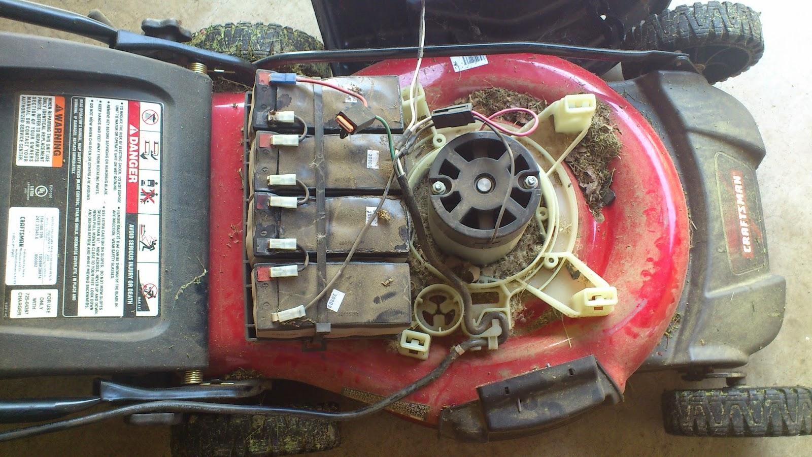 Hanix diy public repairing my craftman electric lawn mower for Lawn mower electric motor