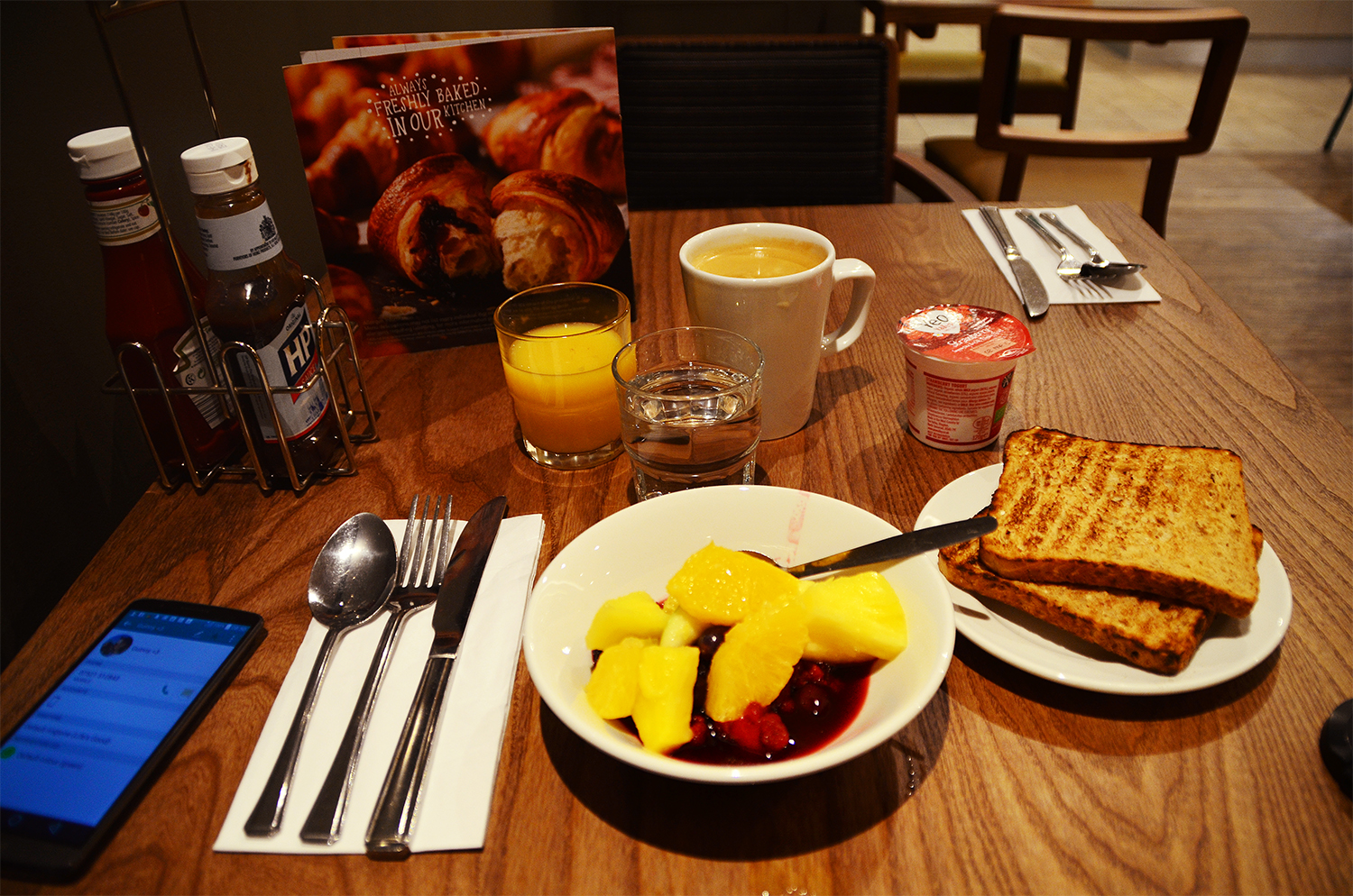 Breakfast at the Premier Inn in Holborn, review