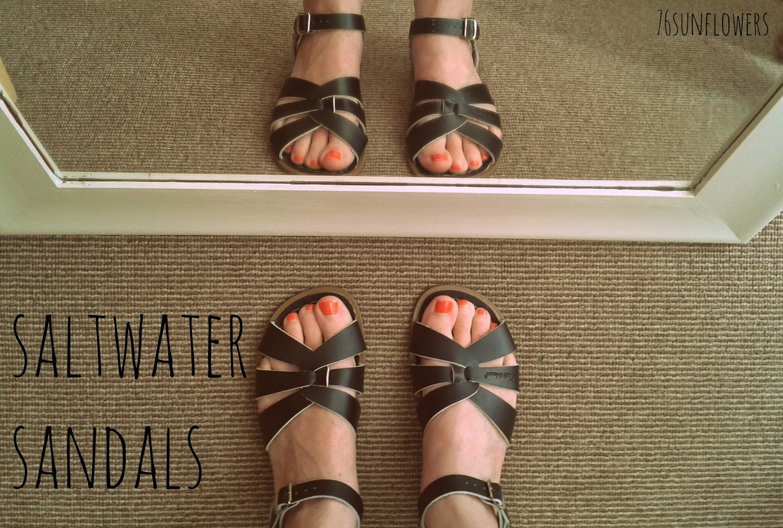 Saltwater sandals // 76sunflowers
