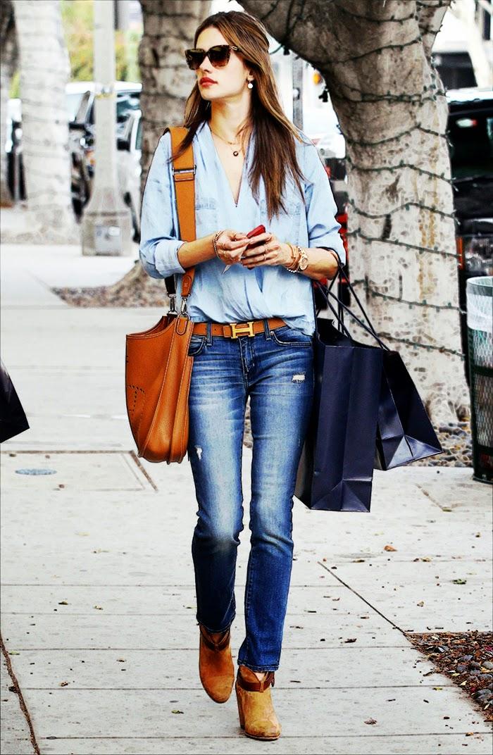 Alessandra Ambrosio Street Style - Look Fabulous in Skinny Jeans