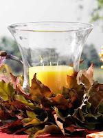 Идеи за декорация на есенни свещници с листа