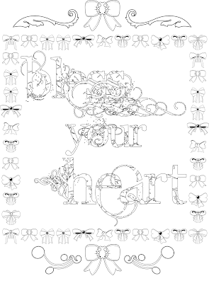 Bless your heart quote adult coloring page, stefanie Girard