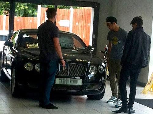 Zayn Malik new Bentley Continental GT