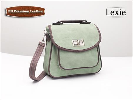 jual tas selempang wanita korea murah lexie hijau