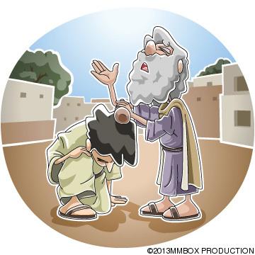 Samuel anoints Saul