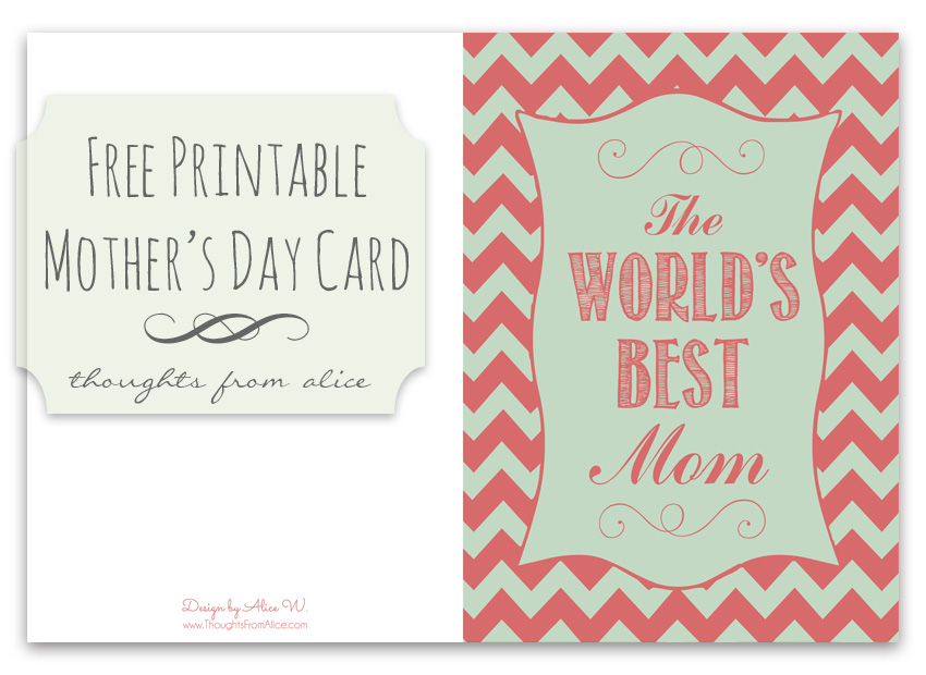 4 Free Printable Mothers Day Cards
