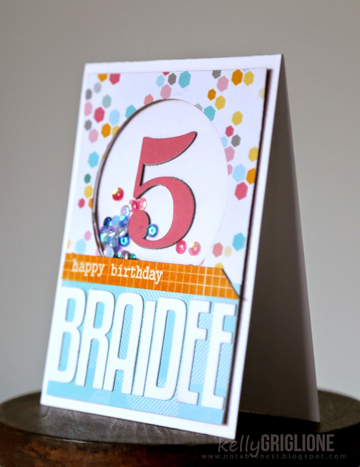 Notable Nest Fusion 5th Birthday Shaker Card