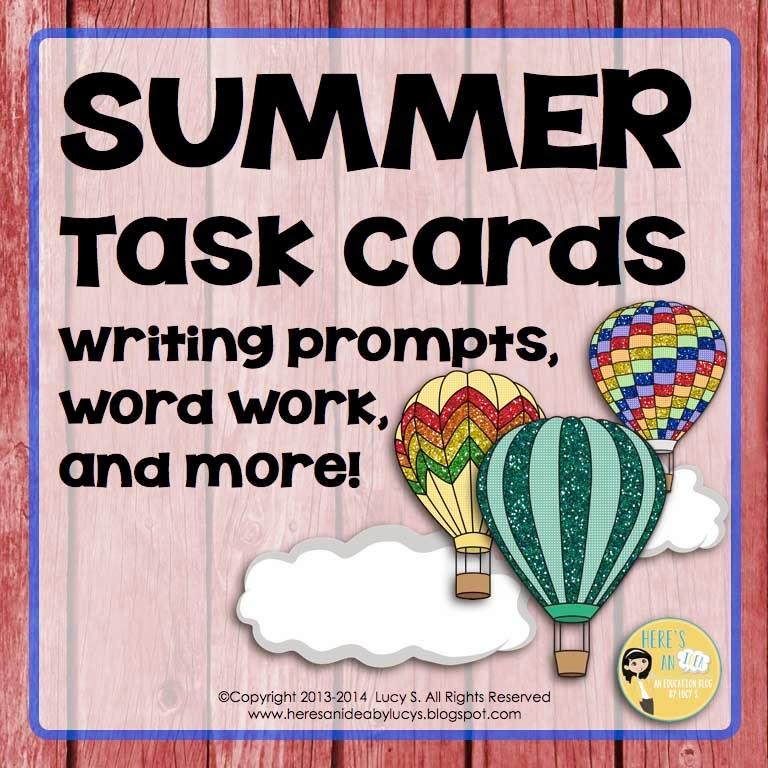 SUMMER ELA task cards