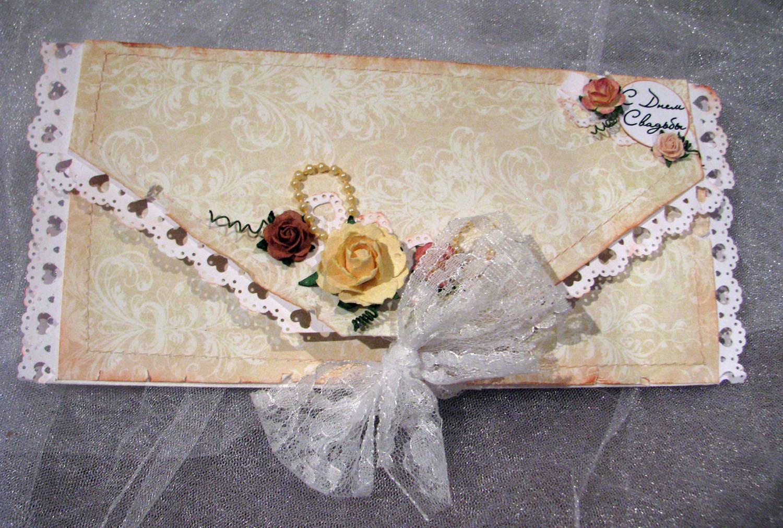 Как самим сделать конверт для денег на свадьбу