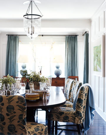 kicking around the color blue for my dining room house beautiful - House Beautiful Dining Rooms