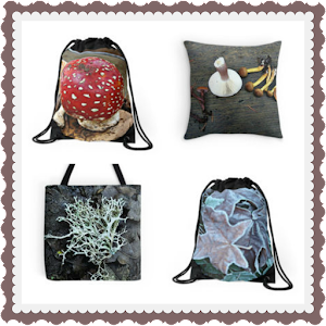 Mori Girl Backpacks, Totes and Pillows Featuring My Nature Photography