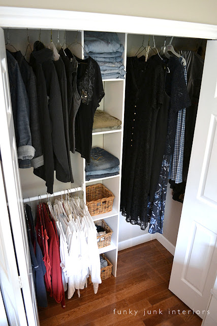 Building an easy clothes closet from a $50 kit! | funkyjunkinteriors.net