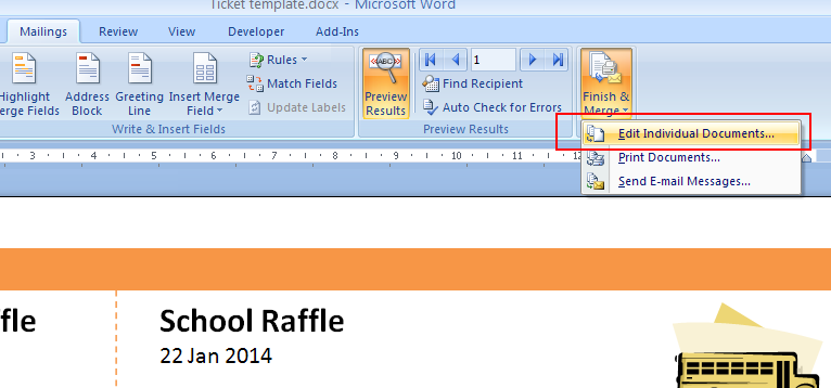 Numbering Tickets In Word. Print Raffle Tickets Using A Template