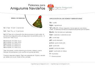 patron arbol de navidad amigurumi