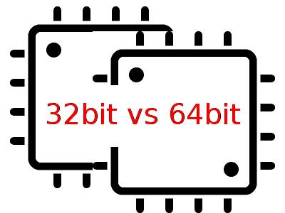 perbedaan prosesor 32 bit  dan 64 bit