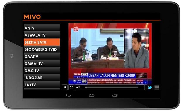Mivo - Aplikasi TV Di HP Android Terbaik Gratis