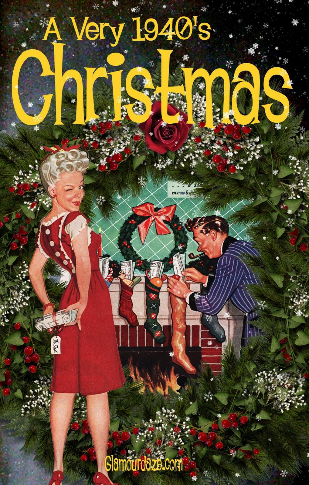 Free Printable Vintage Christmas Card | Glamour Daze