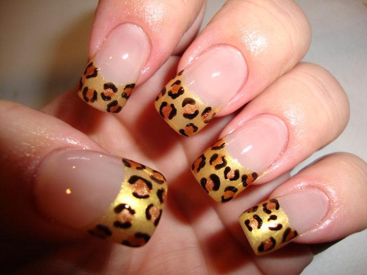uñas decoradas con motivos de leopardo Dibujos para uñas
