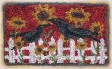 "Two Ole Country Crows Punchneedle Pattern 3 3/4"" by 5 3/4"""