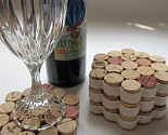 wine cork projects - coaster