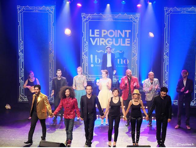 Spectacle 40 Ans du Point-Virgule à Bobino humour comique stand-up bun hay Mean céline Groussard Vérino Fabien Olicard le Mentaliste