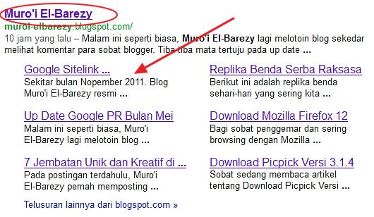 Google Sitelink;Hadiah Istimewa Bulan Mei