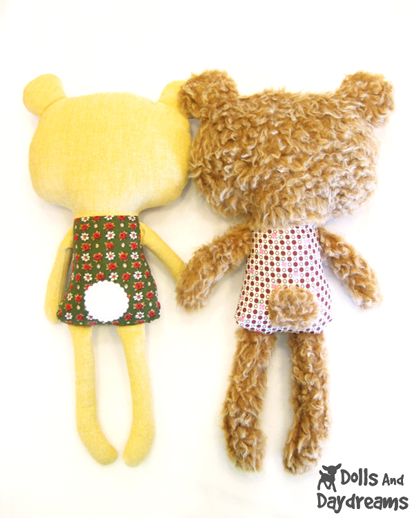 Teddy Bear Softie Stuffed Toy PDF Sewing Pattern Finished!