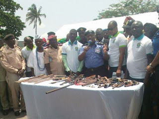 Cultists surrender arms, ammunition in Badagry [PHOTO]