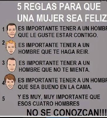 5 cosas para la mujer feliz